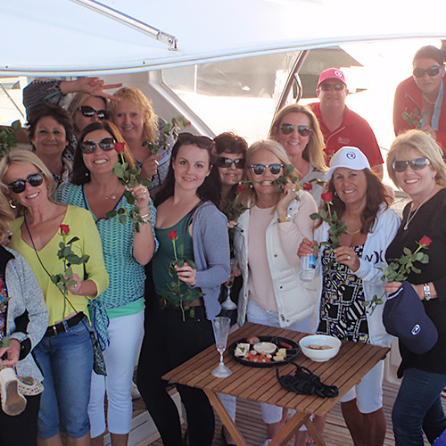 Ladies just love R Marine Mandurah's annual Knot Moët event in Western Australia