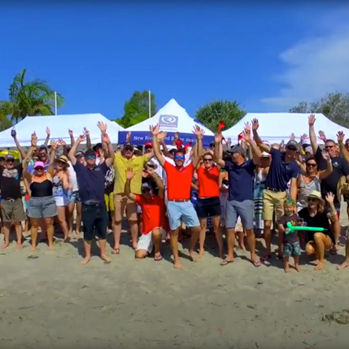 Beach barbecue full of fun for R Marine Crawley Club in Queensland, Australia