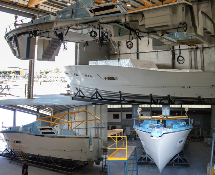 Riviera Sports Motor Yacht construction update – Part IV
