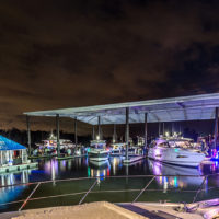 Dramatic-light-as-guests-enjoy-the-Riviera-marina-at-the-beginning-of-the-gala-evening