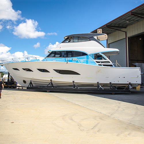 Riviera Sports Motor Yacht construction update – Part V
