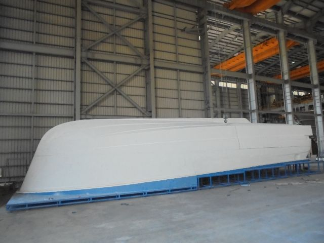 Belize 66 hull plug lies ready for the mould process.