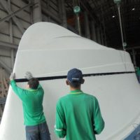 Lifting the base of the hull plus.