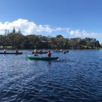 Canoe racing.