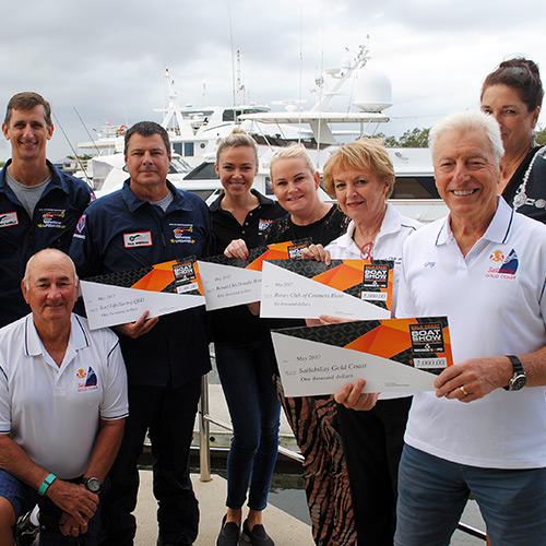 Gold Coast International Boat Show gives generously to local charities