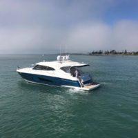 Lance and Jacqueline Dummett's Riviera 5400 Sport Yacht, Hailstorm