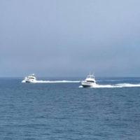 The fleet heads for Lady Musgrave Island.