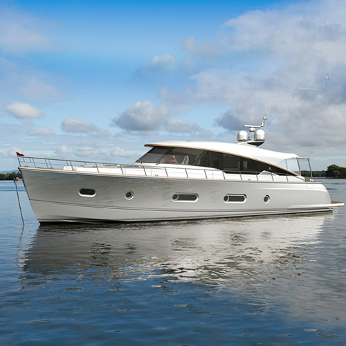Magnificent flagship Belize 66 comes to life as mould plugs begin to show her lines and form