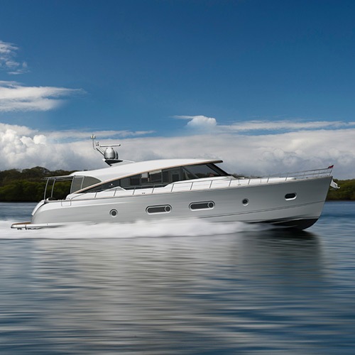 Our Belize 66 team brings the stunning new motor yacht together