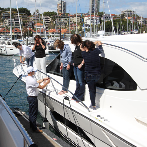 Ladies gain boating confidence and skills in R Marine Sydney training workshop