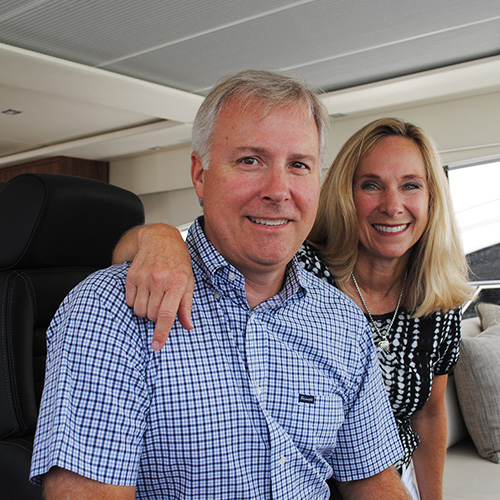 US couple captivated by squeaky sand and manta rays as they undertake a cruise to Australia's Whitsunday Islands aboard their luxurious new Riviera 5400 Sport Yacht