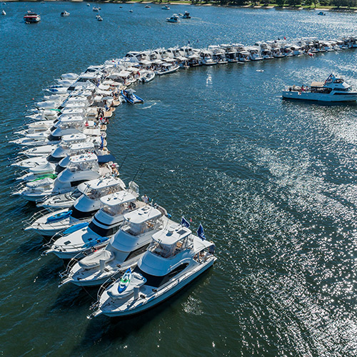 World record as 48 Rivieras raft up in Perth