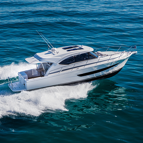 Riviera 395 SUV World Premiere at Sanctuary Cove International Boat Show - our sensational new under 40-foot motor yacht