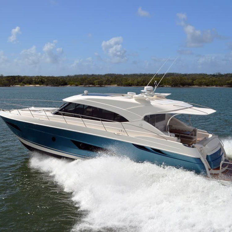 Boatsales says the Riviera 5400 Sport Yacht is an exciting single level yacht