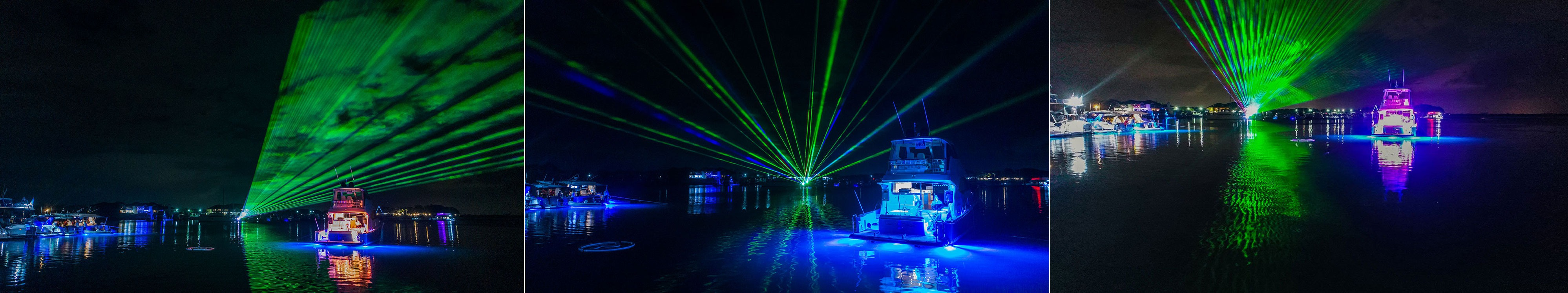 The spectacular laser light show was a highlight.