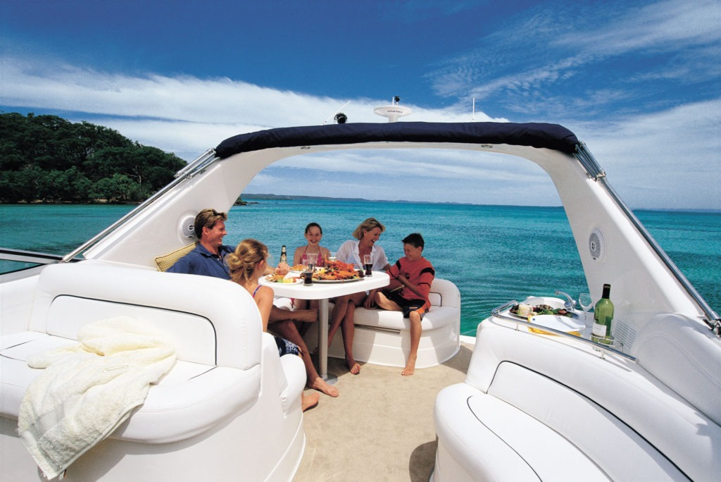 The cockpit is ideally designed for family entertaining.