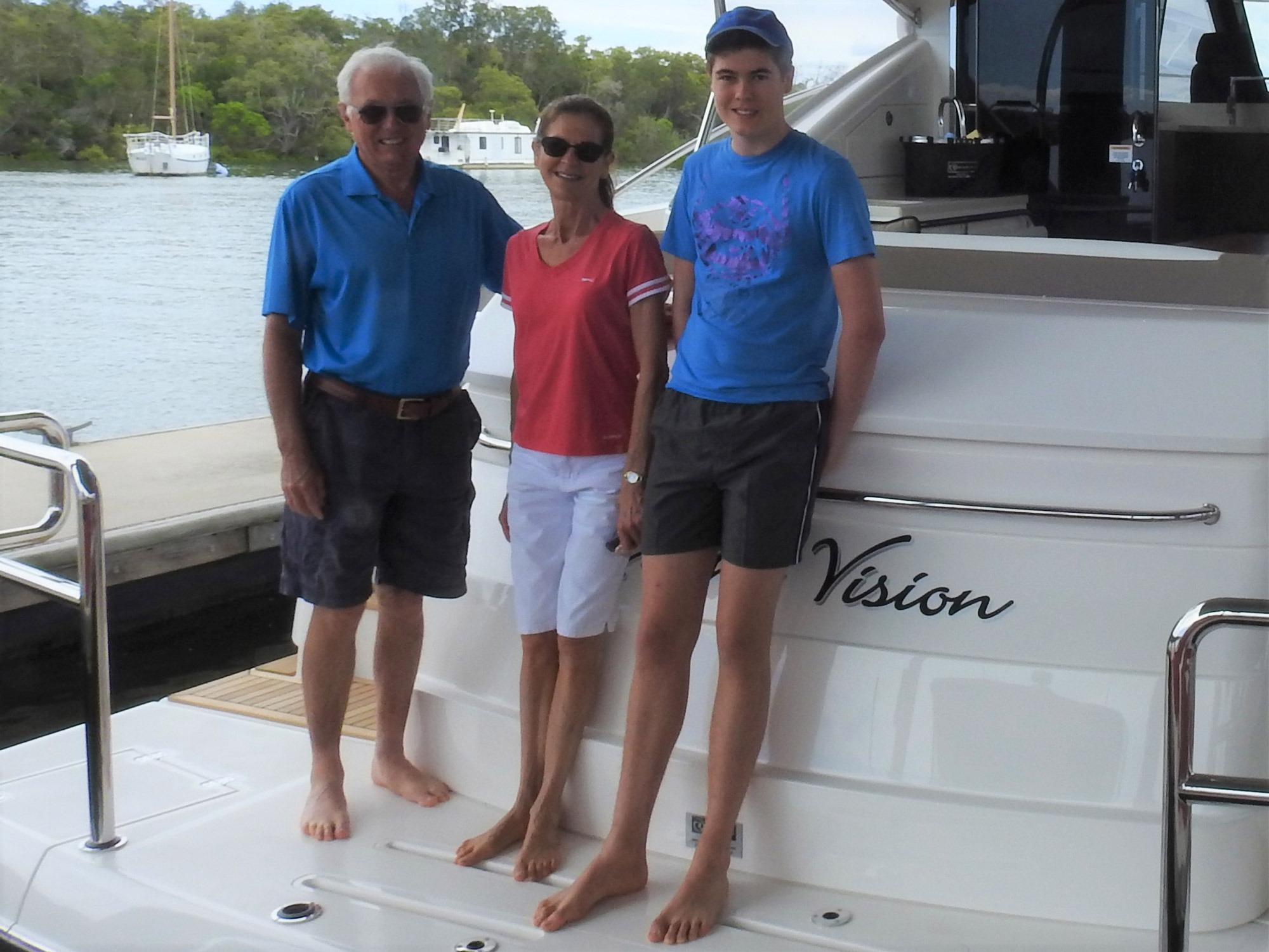 Paul, Diane and James on board Knight Vision.