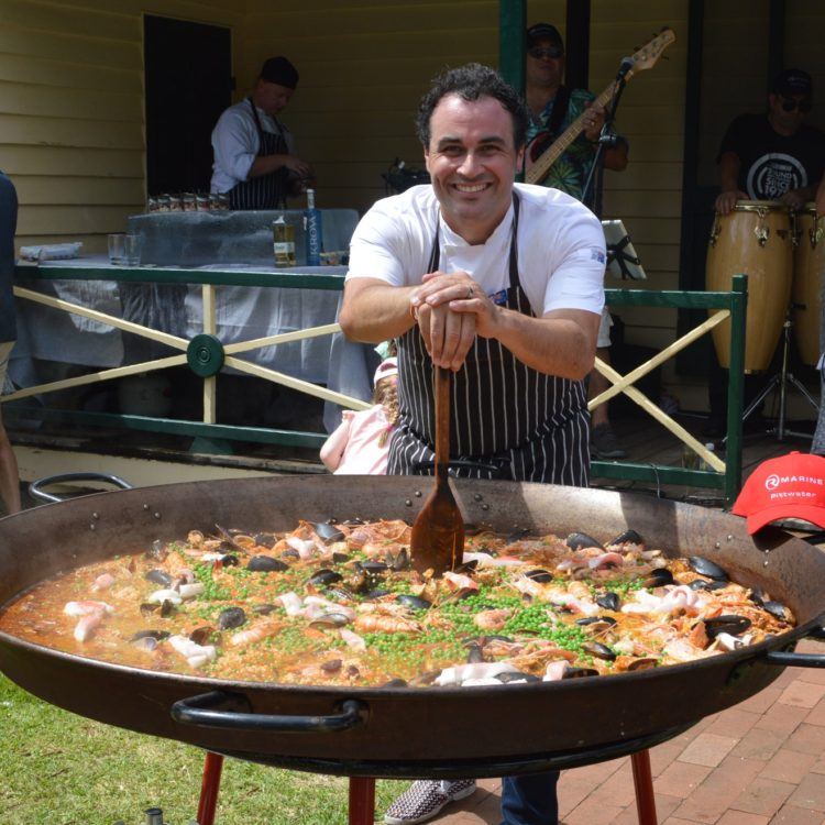 Spanish feast beside the water at R Marine Pittwater Culinary Soiree hosted by renowned chef Miguel Maestre