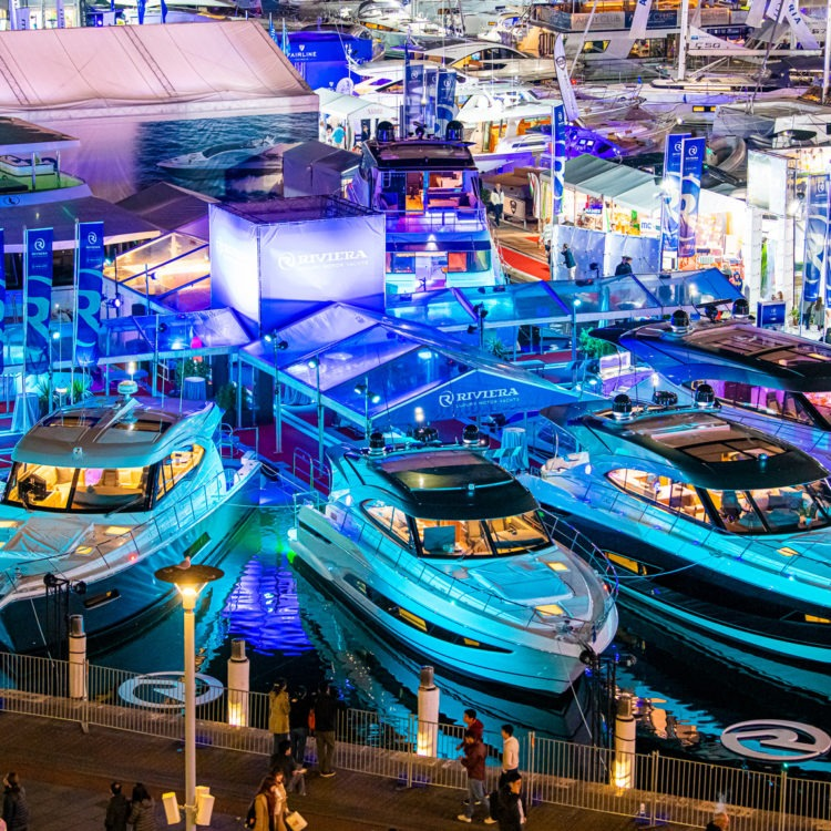 Riviera family celebrates at Sydney International Boat Show