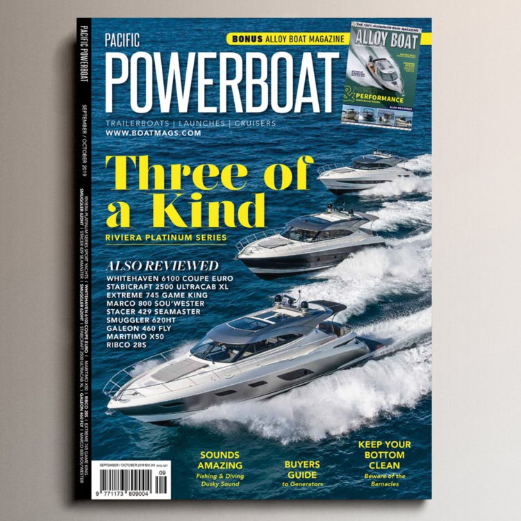 "Pacific Powerboat's exclusive insight into Riviera's exquisite new Platinum Edition: ""They performed superbly …"""