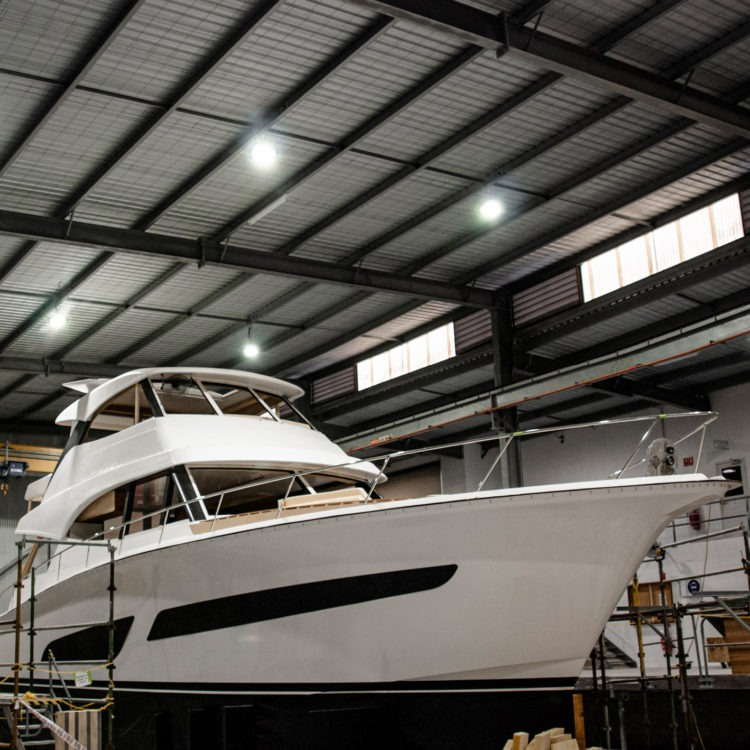 Focus on intricate details as the new 64 Sports Motor Yacht moves closer to reality