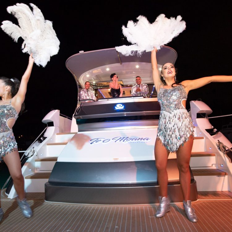 A glittering event welcomes the Riviera Platinum Edition Sport Yachts to New Zealand