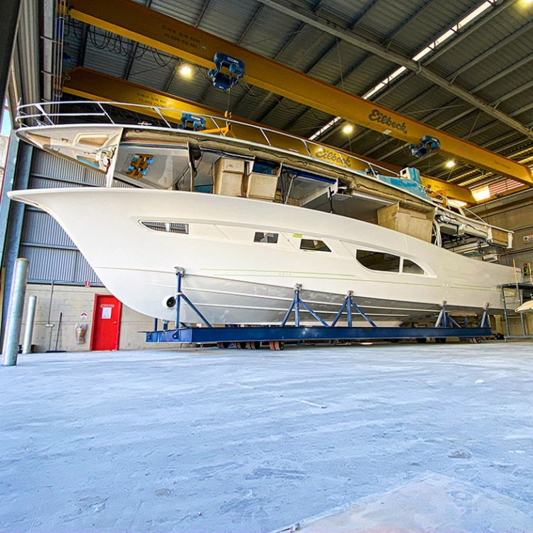 Development continues on the new 64 Sports Motor Yacht